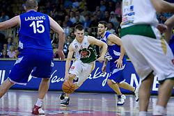 Jaka Klobucar at third finals basketball match of Slovenian Men UPC League between KK Union Olimpija and KK Helios Domzale, on June 2, 2009, in Arena Tivoli, Ljubljana, Slovenia. Union Olimpija won 69:58 and became Slovenian National Champion for the season 2008/2009. (Photo by Vid Ponikvar / Sportida)