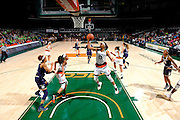 January 8, 2017: Keyanna Harris #0 of Miami in action during the NCAA basketball game between the Miami Hurricanes and the Notre Dame Fighting Irish in Coral Gables, Florida. The 'Irish defeated the 'Canes 67-55.