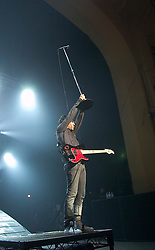 Fall Out Boy <br /> performing live at Brixton Academy, London, Great Britain <br /> on 1st April 2007 <br /> <br /> Andrew Hurley: Drums <br /> Joseph Trohman: Guitar/Vocals <br /> Patrick Stump: Vocals/Guitar <br /> Peter Wentz: Bass/Vocals <br /> <br /> Photograph by Elliott Franks