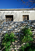 Old house and dry-stone wall. Nin, Croatia
