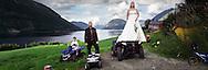 the marriage of Geir and Trine Mari Dvergsdal, their son Daniel, behind stands Birgitte Sandal.12 july 2008