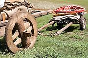 Wooden cart and hand cart, Mongolia