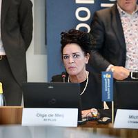 Nederland, Haarlem , 2 februari 2015.<br /> aftrap van de verkiezingscampagne voor de Provinciale Staten Verkiezingen Noord-Holland<br /> <br /> het voorstellen van van de lijstrekkers en het invullen van van de stemwijzer.<br /> Aan het woord is Olga de Meij van 50 Plus.<br /> Foto:Jean-Pierre Jans