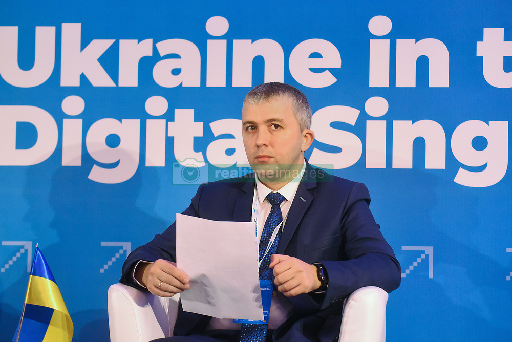 December 18, 2018 - Kyiv, Ukraine - Head of the State Agency for E-Governance of Ukraine Oleksandr Ryzhenko attends the Ukraine in the European Digital Single Market Forum, Kyiv, capital of Ukraine, December 18, 2018. The event was organised by the State Agency for E-Governance of Ukraine, the European Commission, the EU and the OSCE Project Co-ordinator in Ukraine. The forum focused on cooperation in digital and innovation domains, the role of Ukraine in a globalised world and the prospects for e-Governance in Ukraine. Ukrinform. (Credit Image: © Olena Khudiakova/Ukrinform via ZUMA Wire)