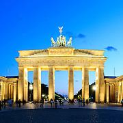 Brandenburg Gate (Brandenburger Tor) in Berlin, Germany