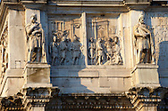 Detail from The Arch Of Constantine . Rome .<br /> <br /> Visit our ITALY HISTORIC PLACES PHOTO COLLECTION for more   photos of Italy to download or buy as prints https://funkystock.photoshelter.com/gallery-collection/2b-Pictures-Images-of-Italy-Photos-of-Italian-Historic-Landmark-Sites/C0000qxA2zGFjd_k<br /> .<br /> <br /> Visit our ROMAN ART & HISTORIC SITES PHOTO COLLECTIONS for more photos to download or buy as wall art prints https://funkystock.photoshelter.com/gallery-collection/The-Romans-Art-Artefacts-Antiquities-Historic-Sites-Pictures-Images/C0000r2uLJJo9_s0