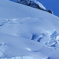 An expedition ascends a glacier in a previously unexplored range in Chile.
