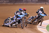 Jason Doyle in front during the 2019 Adrian Flux British FIM Speedway Grand Prix at the Principality Stadium, Cardiff, Wales on 21 September 2019.