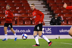 Jamie Lindsay of Rotherham United warms up - Mandatory by-line: Ryan Crockett/JMP - 20/10/2020 - FOOTBALL - The City Ground - Nottingham, England - Nottingham Forest v Rotherham United - Sky Bet Championship