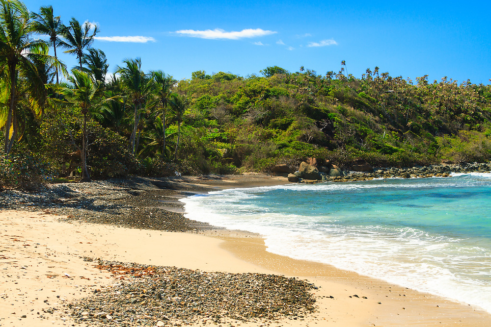 One of the dozen or so bays along the north shore of St. Thomas, US Virgin Islands, USA Territory; Dorothea Bay is relatively small but stunning providing fishing and recreation for the hidden community near by.