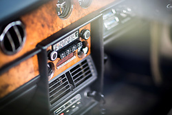 © Licensed to London News Pictures. 07/08/2016. Leeds UK. Picture shows the radio in a 1979 Rolls Royce Silver Shadow Landaulette at the 37th Rolls Royce North rally that has taken place this weekend in the ground's of Harewood House in Yorkshire. The event bring's together some of the UK's most prized motor cars & their proud owners. Photo credit: Andrew McCaren/LNP