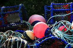 July 21, 2019 - Lobster Pots And Buoys (Credit Image: © Peter Zoeller/Design Pics via ZUMA Wire)