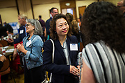 Tanya Gee of EPIC Brokers networks during the Silicon Valley Business Journal's Future of Fremont event at Fremont Marriott Silicon Valley in Fremont, California, on June 18, 2019.  (Stan Olszewski for Silicon Valley Business Journal)