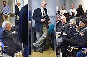 Photo by Mara Lavitt <br /> April 15, 2015 Yale Repetory Theater lounge, New Haven.<br /> Reception and book signing for scenic designer Ming Cho Lee. Dean James Bundy, author Arnold Aronson, and publisher Terry Nemeth attended.