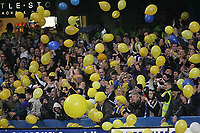 Photo: Lee Earle.<br /> Chelsea v Colchester United. The FA Cup. 19/02/2006. Colcheter fans enjoy their game against Chelsea.