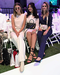 """Elena Carriere releases a photo on Instagram with the following caption: """"Had such a great first FW day w/ my @colgate_styleyoursmile Trio, ending with the @marccain Fashion Show #colgateangels #colgate #bringbackthesmile #ad"""". Photo Credit: Instagram *** No USA Distribution *** For Editorial Use Only *** Not to be Published in Books or Photo Books ***  Please note: Fees charged by the agency are for the agency's services only, and do not, nor are they intended to, convey to the user any ownership of Copyright or License in the material. The agency does not claim any ownership including but not limited to Copyright or License in the attached material. By publishing this material you expressly agree to indemnify and to hold the agency and its directors, shareholders and employees harmless from any loss, claims, damages, demands, expenses (including legal fees), or any causes of action or allegation against the agency arising out of or connected in any way with publication of the material."""