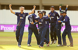 Gloucestershire players celebrate winning The Royal London One Day Trophy - Mandatory byline: Robbie Stephenson/JMP - 07966 386802 - 19/09/2015 - Cricket - Lord's Cricket Ground - London, England - Gloucestershire CCC v Surrey CCC - Royal London One-Day Cup Final