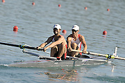 Banyoles, SPAIN,   CAN LM2-, Bow J METCALFE and S GOWDY  move away from the start, during their heat of the Men's Lightweight pair at the  FISA World Cup Rd 1. Lake Banyoles Friday 29/05/2009   [Mandatory Credit. Peter Spurrier/Intersport Images]