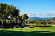 A general view of the 15th green during previews of the Challenge Tour Grand Final 2020, T-Golf & Country Club, Palma, Balearic Islands. 18/11/2020<br /> Picture: Golffile | Phil Inglis<br /> <br /> <br /> All photo usage must carry mandatory copyright credit (© Golffile | Phil Inglis)