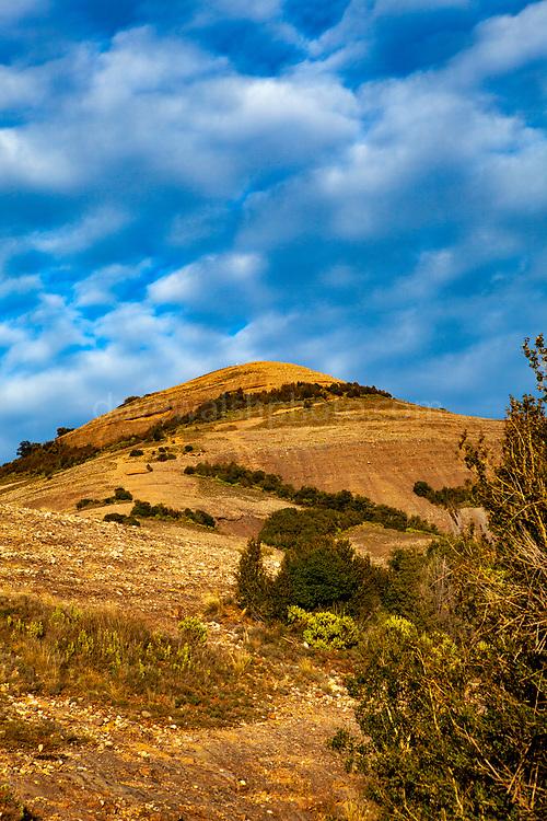 The 1056 metre high mountain of Montcau, in the Parc Natural Sant Llorenc del Munt massif, near Barcelona, Catalonia.