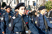 Remembrance Sunday, 13th November 2011, Hackney, London. Young female Metropolitan Police cadets