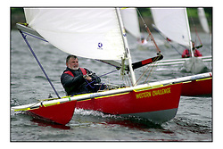 The UK National Championships for the Challenger class, dedicated to the disabled, the class attracted 40 boats to Largs, the biggest event of it's kind.  Alex Hodge, from Glasgow leading the Gold Fleet..Marc Turner  / PFM