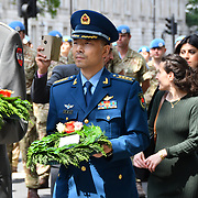 Dai Jin Hua from China of the People's Liberation Army attend the International Day of United Nations Peacekeepers - Remembrance Ceremony, on 23 May 2019, London, UK.