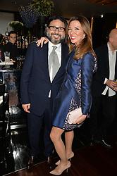 HANI FARSI and HEATHER KERZNER at the Launch Of Alain Ducasse's Rivea Restaurant At The Bulgari Hotel, 171 Knightsbridge, London on 8th May 2014.