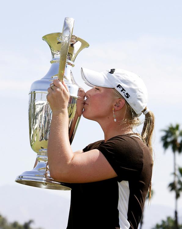 Morgan Pressel won the 2007 Kraft Nabisco Championship/