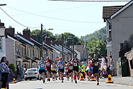 action from the Caerphilly 10k race, Caerphilly Town centre in Caerphilly , South Wales on Sunday 18th June 2017. <br /> pic by Andrew Orchard, Andrew Orchard sports photography.