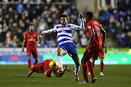 Michael Hector of Reading © in action. Skybet football league championship match, Reading  v Blackburn Rovers at The Madejski Stadium  in Reading, Berkshire on Sunday 20th December 2015.<br /> pic by John Patrick Fletcher, Andrew Orchard sports photography.