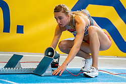 Femke Bol in action on the 400 meter during AA Drink Dutch Athletics Championship Indoor on 21 February 2021 in Apeldoorn.