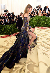 Gigi Hadid attending the Metropolitan Museum of Art Costume Institute Benefit Gala 2018 in New York, USA.