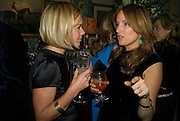 MARIELLA FROSTRUP AND EMILY OPPENHEIMER-TURNER, Pre Bafta dinner hosted by Charles Finch and Chanel. Mark's Club. Charles St. London. 9 February 2008.  *** Local Caption *** -DO NOT ARCHIVE-© Copyright Photograph by Dafydd Jones. 248 Clapham Rd. London SW9 0PZ. Tel 0207 820 0771. www.dafjones.com.