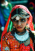 Young girl at village festival at Hagud, India