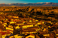 High angle view of the town of Galera, Granada Province, Andalusia, Spain.