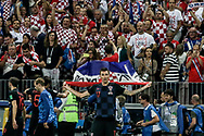 Mario Mandzukic of Croatia celebrates after winning the 2018 FIFA World Cup Russia, semi-final football match between Croatia and England on July 11, 2018 at Luzhniki Stadium in Moscow, Russia - Photo Thiago Bernardes / FramePhoto / ProSportsImages / DPPI