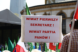 May 6, 2017 - Warsaw, Poland - Mass demonstration 'March of Freedom' moved through Warsaw, organized by several opposition parties (Nowoczesna, Platforma Obywatelska) and NGOs. (Credit Image: © Jakob Ratz/Pacific Press via ZUMA Wire)