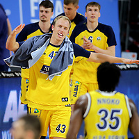 #43 Luke Sikma Alba von Alba Berlin    jubelt<br /> Basketball, nph0001 1.Bundesliga BBL-Finalturnier 2020.<br /> Halbfinale Spiel 2 am 24.06.2020.<br /> <br /> Alba Berlin vs EWE Baskets Oldenburg <br /> Audi Dome<br /> <br /> Foto: Christina Pahnke / sampics  / POOL / nordphoto<br /> <br /> National and international News-Agencies OUT - Editorial Use ONLY