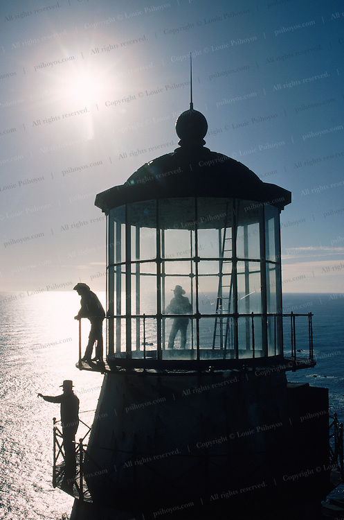 This lighthouse is part of Russ Ranch on Cape Mendocino, in Northern California.