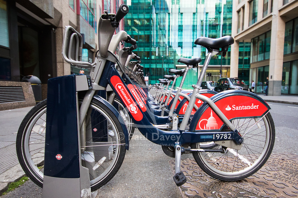 "London, August 21st 2015. London's ubiquitous ""Boris Bikes"" have proven popular with tourists and Londoners alike, with both regular users and those new to the scheme will be able to ride Boris Bikes without charge on August 22 and 23, as part of Transport For London's initiative to encourage further adoption of the scheme by users ahead of expansion plans to roll out a further 1,000 docking stations."
