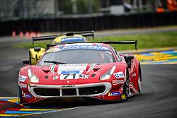 June 14, 2018 - Le Mans, FRANCE - 71 AF CORSE (ITA) FERRARI 488 GT3 PIERGIUSEPPE PERAZZINI (ITA) MARCO CIOCI  (Credit Image: © Panoramic via ZUMA Press)
