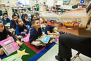 Students in Spanish language class at Walnut Bend Elementary school, February 6, 2013.