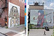 Boulevard Saint Laurent & Murals - Downtown Montreal / Plateau Mont Royal