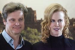 Photocall for Jonathan Teplitzkys film The Railway Man at Creative Scotland, Edinburgh. .Actors Colin Firth and Nicole Kidman. .©Michael Schofield..
