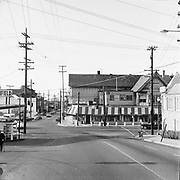 Y-670513B-05.  West Burnside at NW 23rd. Ave. looking north, May 13, 1967. Portland, Oregon.