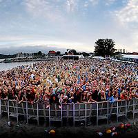 Så mange mennesker var på  Palmesus lørdag kveld.<br /> <br /> Foto: Tor Erik Schrøder