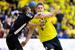 Michal Szyba of RK Gorenje Velenje during handball match between RK Gorenje Velenje (SLO) and Team Tvis Holstebro (DEN) in 3rd Qualification round of EHF European Cup 2015/16, on November 22, 2014, Rdeca dvorana, Velenje, Slovenia. Photo by Urban Urbanc / Sportida