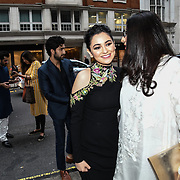 "Hania Amir and Producter attend Photocall in London Premiere of ""Parwaaz Hai Junoon"" (Soaring Passion) as featured on SKY, ITV at The May Fair Hotel, Stratton Street, London, UK. 22 August 2018."