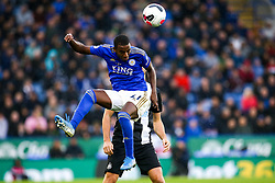 Ricardo Pereira of Leicester City heads the ball - Mandatory by-line: Robbie Stephenson/JMP - 29/09/2019 - FOOTBALL - King Power Stadium - Leicester, England - Leicester City v Newcastle United - Premier League